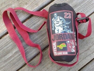 1996 MICHAEL JORDAN Official Game Gear SPACE JAM Sports Drink KOOZIE with STRAP