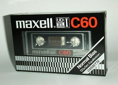 Blank Cassette Tape - Maxell Udxli C-60 - Normal Position - Sealed - Japan 1980
