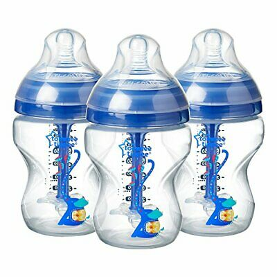 Tommee Tippee Decorated Anti-Colic Bottles 260 ml 3 count