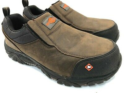 8c9494f7cbc MERRELL WORK MENS Moab Rover Moc Composite Toe J45327 Size 10.5 W Wide