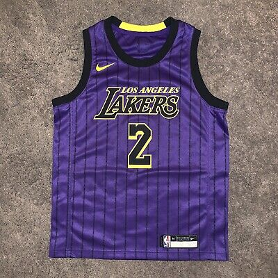 b2384e96d76c Lonzo Ball Youth Medium Lakers Authentic Jersey City Edition 2018-2019