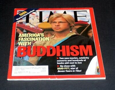 ec2f5a8ecf Time Magazine October 13 1997 America's Fascination With Buddhism Brad Pitt