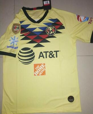 c12ff6a1a NEW 2019-20 CAMPEON LIGA MX A18 patch Club America Home soccer Jersey S-