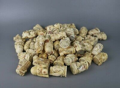 10 pieces different style China bone carved small figure Japanese netsukes