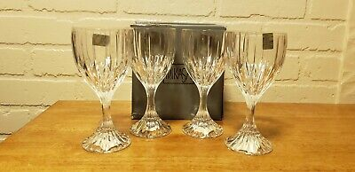 Mikasa Full Lead Crystal Goblet (Park Lane) New Set Of Four