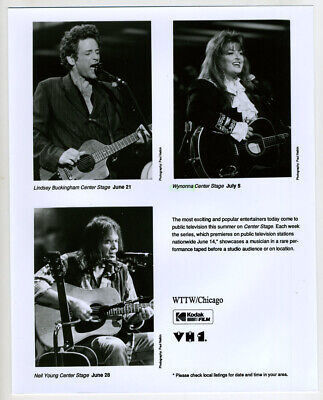 PBS Press Photo- Center Stage- Lindsey Buckingham, Wynonna, Neil Young