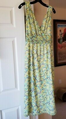 48145dfd717 Villager by Liz Claiborne Teal Green Black Botanical Dress Size 16