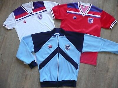 Admiral England 1982 world cup Football shirt HOME AWAY + Tracksuit Collection
