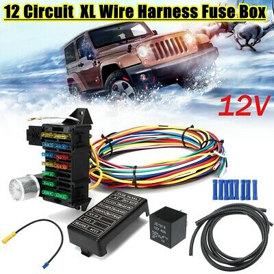 12 circuit universal wiring harness muscle car hot rod street rod xl wires  uk electrical components