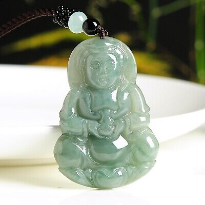 Real Natural Grade A Jade /Jadeite Men Women Best 观音 Guanyin Pendant