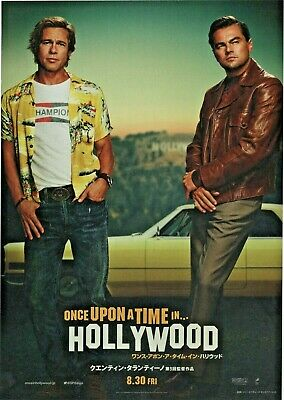 Once Upon a Time In Hollywood 2019 Japanese Chirashi Flyer Mini Movie Poster B5