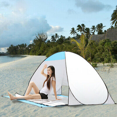 Outdoor Travel Pop Up Picnic Rest Tent Waterproof 2 Persons Tent Fishing Tent QQ