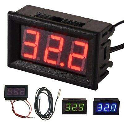 DC 12V LED Digital Thermometer -50°C~ 110°C Temperature Sensor Detector Tester