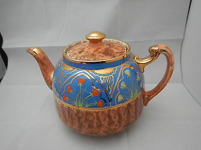 Vintage English pottery Enamel teapot
