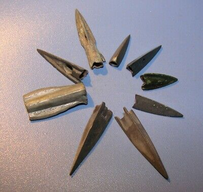 Ancient  arrowheads  bronze. RARE. ORIGINAL. 4(d)