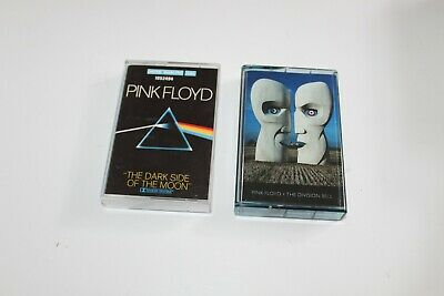 Lot 2 K7 cassettes audio  -PINK FLOYD: The Dark Side of The Moon + The division