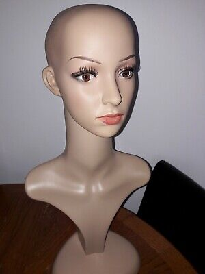 Female Mannequin Head Model Stand Manikin Wigs Hats Display Holder*****