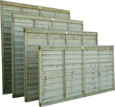Wooden Garden Lap Fence Panels Overlap Fencing Panel 6ft 5ft 4ft 3ft Tanalised