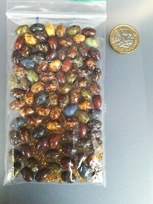 BEADS Packet Bundle of Speckle Brown Tone Beads For Jewellery Making and Crafts