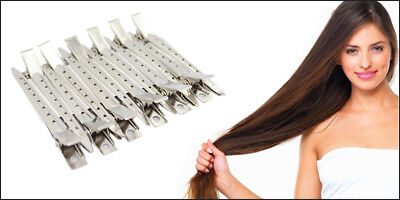 24 x Metal Non-Slip Hair Sectioning Spring Clips ideal for blow drying & curls