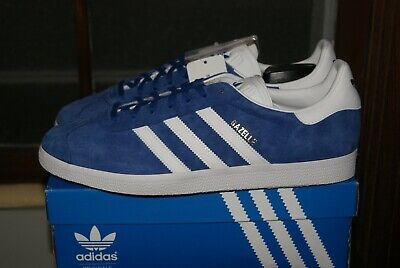 online retailer 0e80f 77fb8 Mens Adidas Gazelle Royal Blue White Gold Sz 8 or 9 or 9.5 or 10 or