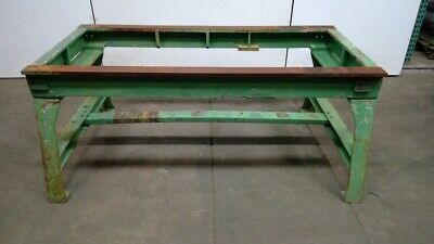 "Vintage Cast Iron Legs Table Work Bench Machine Base 30-1/2""H x 62-1/2""L x 30""W"
