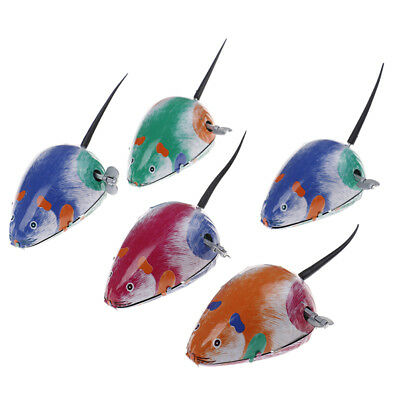 3x Cute classic tin clockwork mouse new action figures toy for children BC