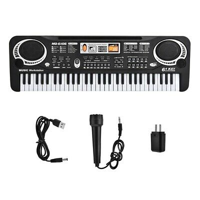61 Keys Electronic Keyboard Music Electric Digital Piano Organ with Microphone