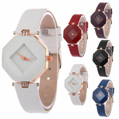 Fashion Casual Square Ladies Womens Watch leather Band Quartz Wrist Watch Gift U