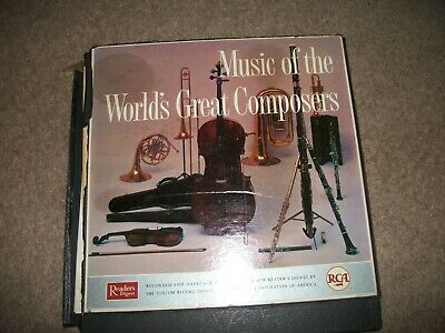 Music of the World's Great Composers RCA 1959 12 Mono Vinyls Book included RCA