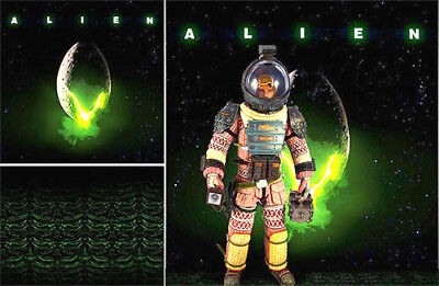 Poster Backdrop Ships Rolled~Alien~Logo For 1/6 Hot Toys Figure Neca Mms03 Mms04