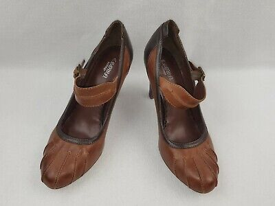 """Crown Vintage """"Felicia"""" Women's Leather Mary Jane Pumps, Brown Size 9"""