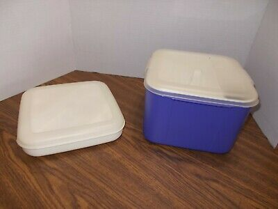 2 EAGLE CRAFTSTOR SEWING/CRAFTS CONTAINERS with Lids Great shape