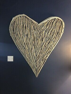 Extra Large Wicker Heart Amazing Piece Of Willow 98cm Tall Shabby Chic Rustic