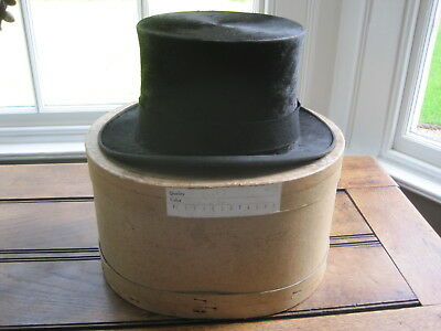 Antique Linney of London Silk Top Hat with Original  Hat Box Size 7 #