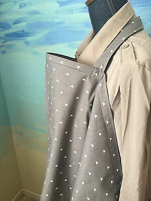 NURSING COVER MILKY BABY ORIGINAL BREASTFEEDING COVER Gray Triangle Newest