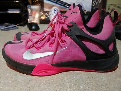 new product 2b1f6 167ad nike zoom hyperrev 2015 kay yow ribbon pink silver black 705370-606 Mens  11.5