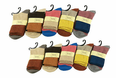 10 Pairs Womens Winter Soft Warm Thick Knit Wool Vintage Casual Crew Socks