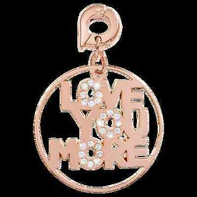 Nikki Lissoni 'Love You More' charm Rose Gold Plated (D1106RGL) 25mm