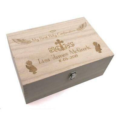 Confirmation Gift Girl's Personalised Large wooden Keepsake Box Gift HB-89