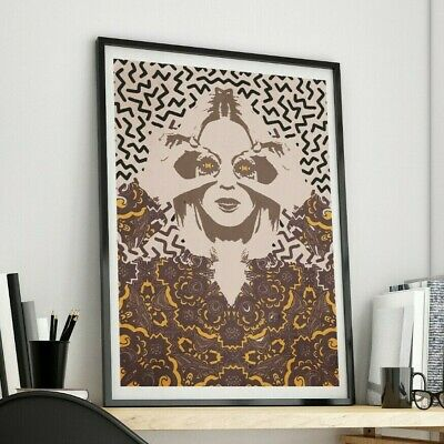 Psychedelic Girl Urban Street Art A3 Pop Poster Print - Limited Edition Of 100