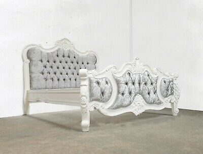 Rococo Double Palais Bed White Hand Made Brand New Shabby Chic
