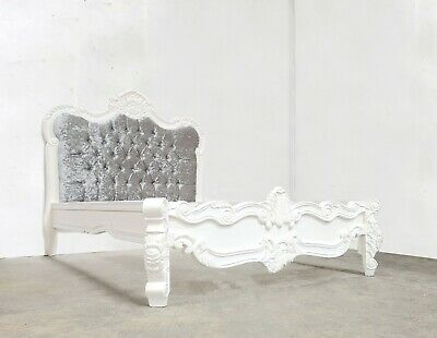 Rococo Style Double Palais Bed White Shabby Chic Hand Made