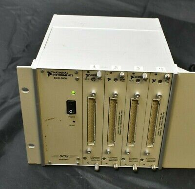 NATIONAL INSTRUMENTS SCXI-1000 Mainframe - With 4 SCXI-1120 Isolation Amplifier