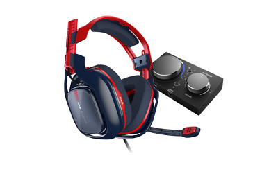 A40 TR Headset + MixAmp Pro TR Rot Blau pro Gaming Esports Fortnite Call of duty