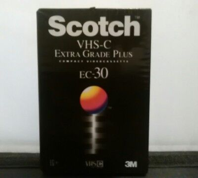 Brand New Sealed Scotch Vhs-C -Blank Cassette Tape Ec-30 Camcorder