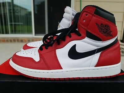 new arrival 3b6a9 7c50b Nike Air Jordan 1 Retro High OG Red Chicago Size 10.5 2015