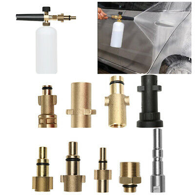 Car Pressure Washer Snow Foam Lance Cannon 1/4' Quick Connect Adapter AU