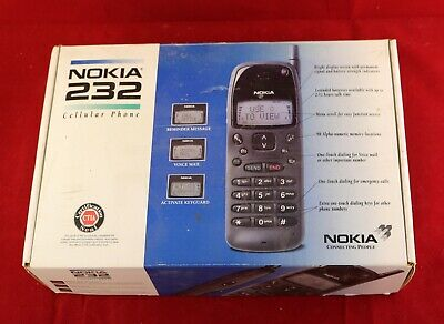 Vtg EMPTY BOX ONLY for Nokia 232 Cellular Phone