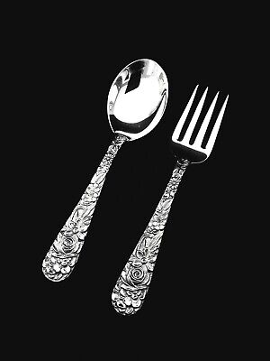 S. Kirk & Son Repousse Sterling Silver Baby Fork and Spoon Set- GIFT QUALITY 🎁